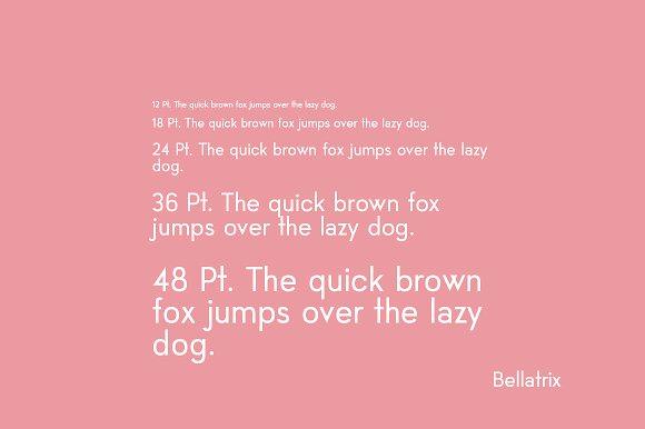 Bellatrix Sans-Serif font