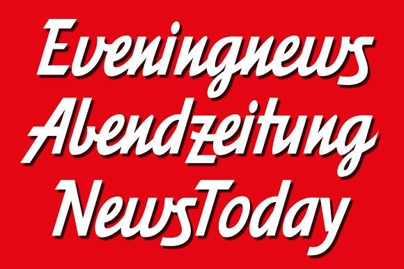 Eveningnews fonts