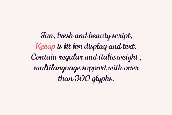Kecap Script Font
