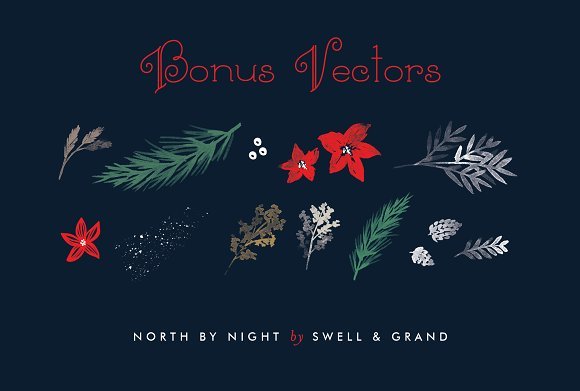 North by Night, A Christmas Font