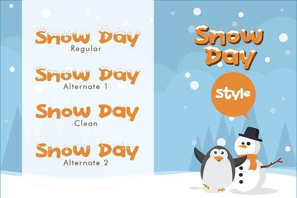 Snow Day Display