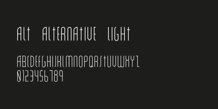 Alt Alternative Font Family