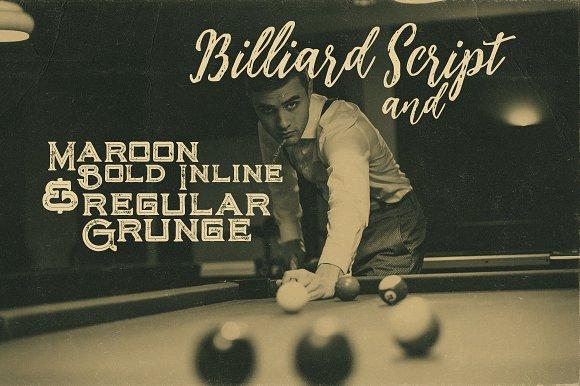 Billiard Font Duo