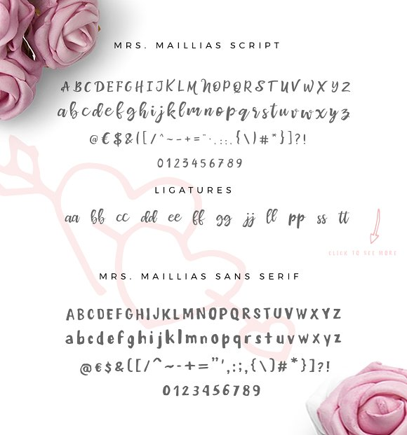 Mrs Maillias Duo Font & Doodles