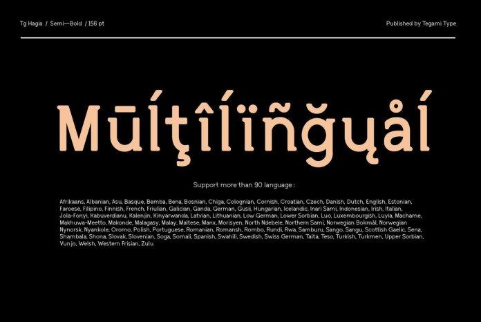 TG Hagia Font Family - 3 Fonts