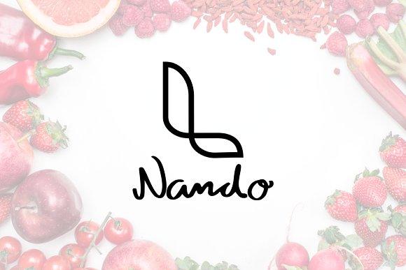 Natio's Font + 5 FREE logos