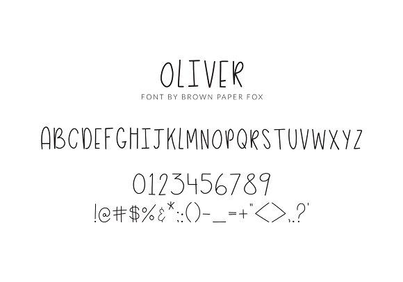 Oliver - Skinny All Caps Font