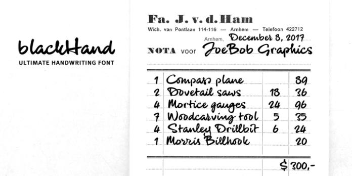 blackHand Font