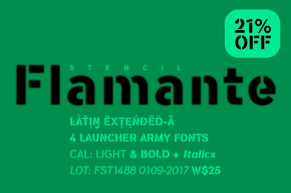 Flamante Stencil