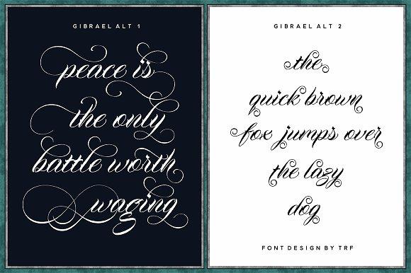 Gibrael Script Font