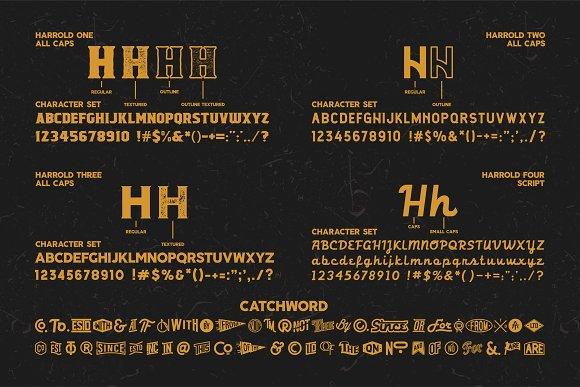 Harrold Font Bundle
