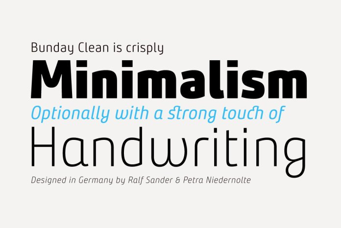 Bunday Clean Font Family