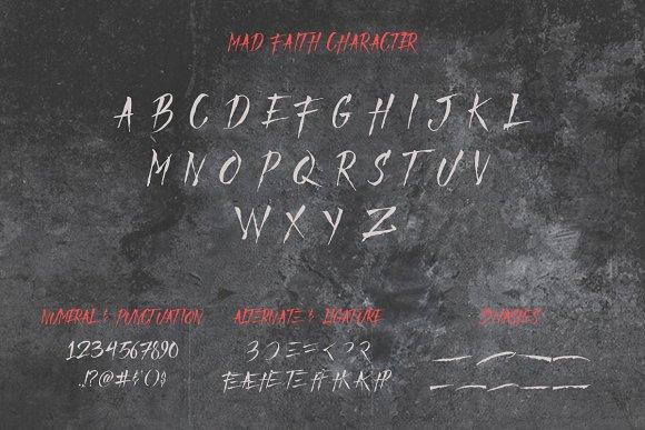 Mad Faith ~ Brush Font