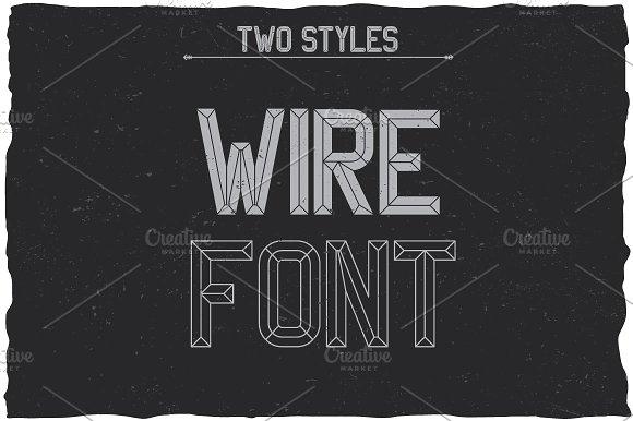 WireFont Vintage Label Typeface