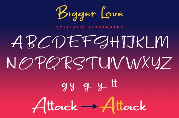 Bigger Love - Clean Handwriting Font