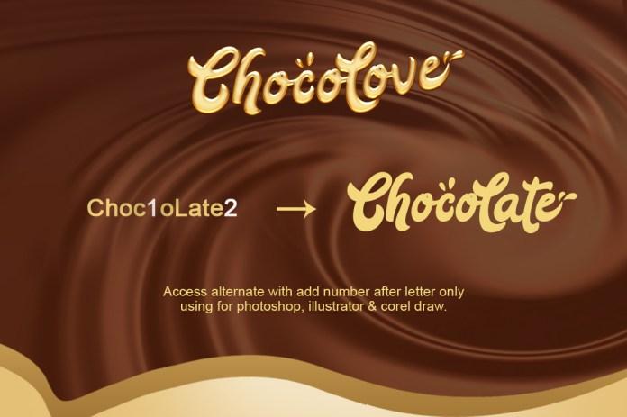 ChocoLate Script Font