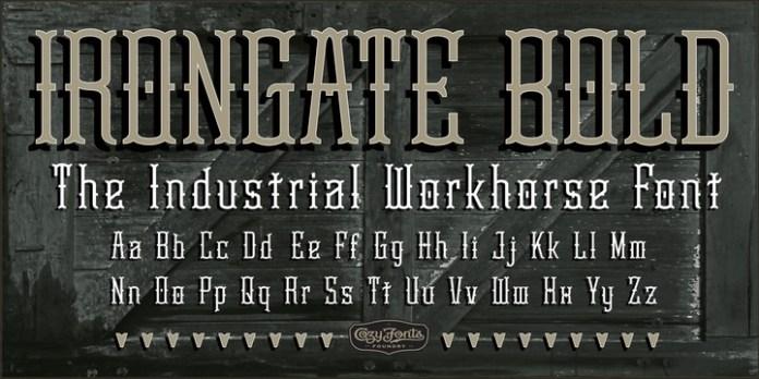 Irongate Font Family