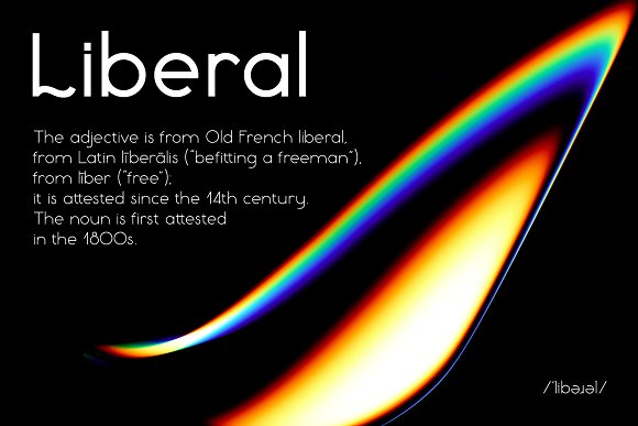 Liberal (free font of the week)