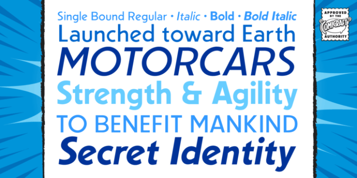 Single Bound Font Family