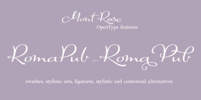 Mont Rose Font