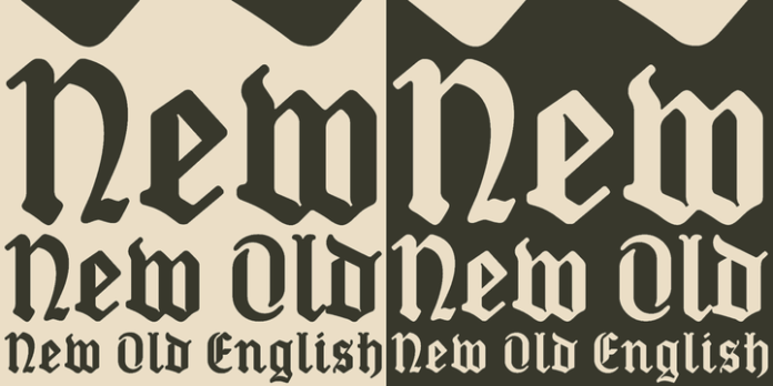 New Old English Font