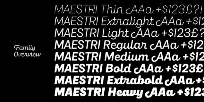 Maestri Font Family