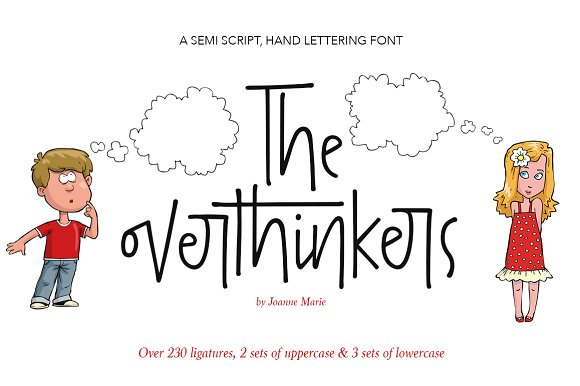 The Overthinkers Script Font