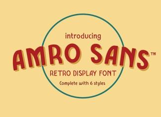 Amro Sans Family Font Family