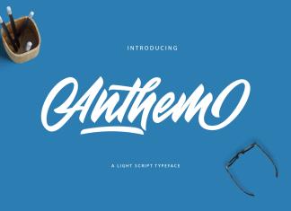 Anthem Typeface Font Script