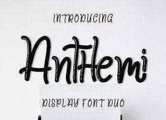Anthemi Font Script