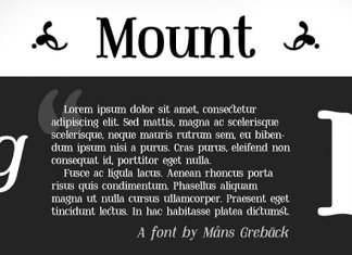 CM - Mount Font