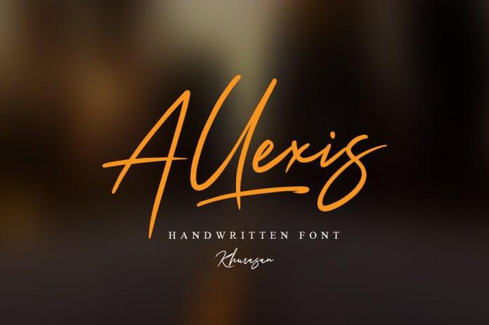Fontbundles - Allexis Signature Script