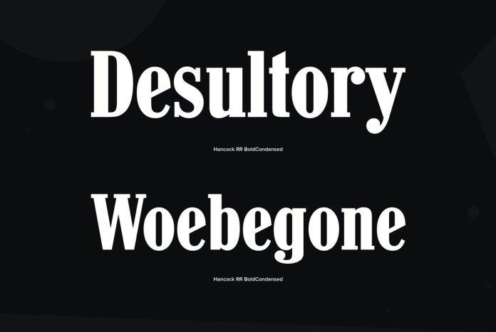 Hancock Bold Condensed Font