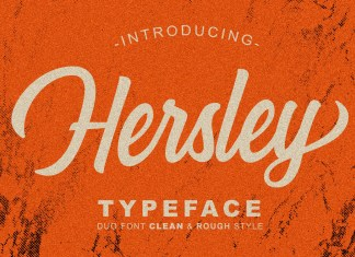 Hersley Typeface Font