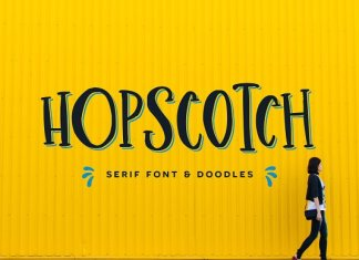 Hopscotch Font + Doodles Script
