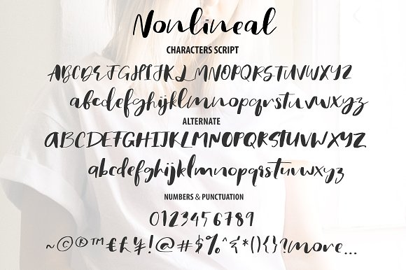 Nonlineal Font
