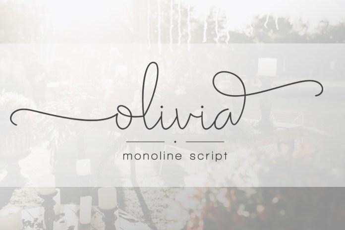 Olivia - Elegant Monoline Script Font