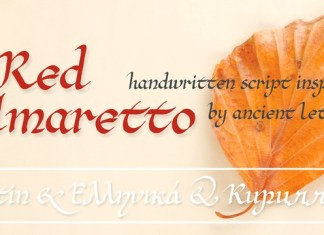 Red Amaretto Font