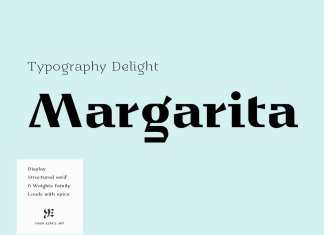 YE Margarita Font Family