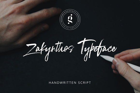 Zakynthos Handwritten Typeface Font
