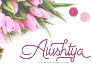 Aiushtya Script Font