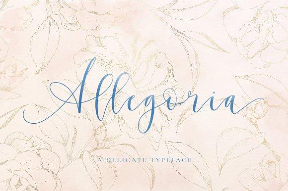 Allegoria - Elegant Calligraphy Font Script