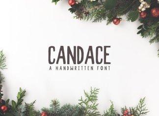 Candace A Handwritten Font + Bonus