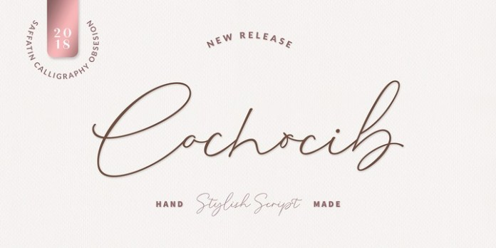 Cochocib Script Latin Pro Font