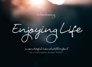 Enjoying Life Script Font