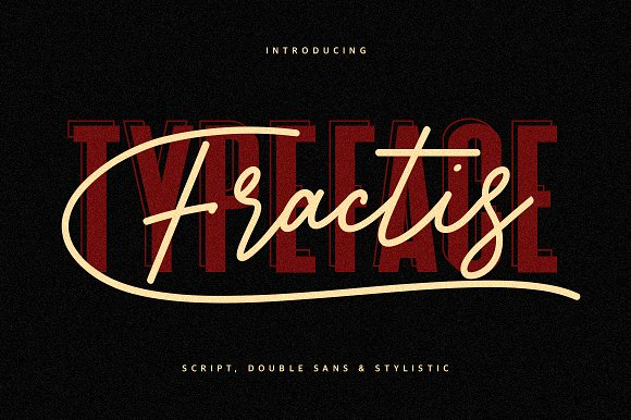 Fractis Typeface Collection Font