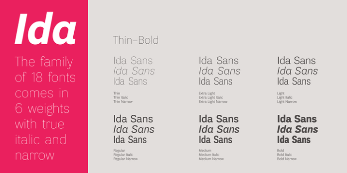 Ida Font Sans Serif