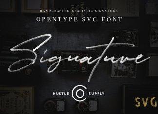JV Signature SVG - Opentype SVG