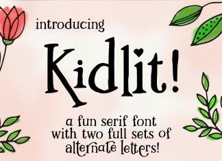 Kidlit: A Fun Serif Font