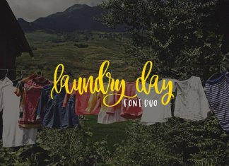 Laundry Day Font Duo